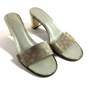 GUCCI Made in ITALY High Heels Sandals Leather ~ 5